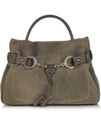 Buti - Brown Taupe Suede and Leather Satchel Bag - Lyst