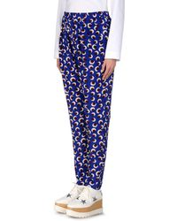 Stella McCartney Christine Printed Silk Crepe De Chine Tapered Pants - Lyst
