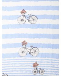 Dickins & Jones - Bike Stripe Silk Scarf - Lyst