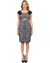 Sue Wong Embroidered Cocktail Dress - Lyst