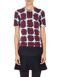 Balenciaga Brushstroke Geometric-Print Sweater red - Lyst