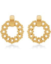 What Goes Around Comes Around Chanel Cut-out Star Hoop Earrings - Lyst