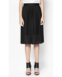 French connection Leah Jersey Pleated Skirt - Lyst
