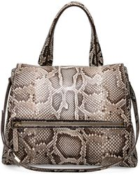 Givenchy Pandora Pure Small Python Satchel Bag - Lyst