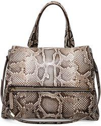 Givenchy Pandora Small Python Satchel Bag - Lyst