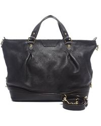 Louis Vuitton Preowned Black Mahina Leather Stellar Pm Bag - Lyst