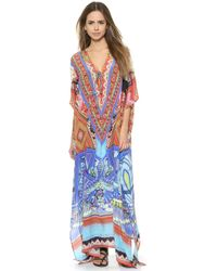 Camilla Lace Up Caftan - Colour Me Baby - Lyst