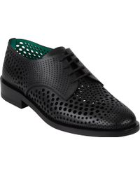 Balenciaga Black Perforated Derbys - Lyst