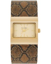 Jessica Simpson - Womens Brown Python Mesh Bracelet Watch 23x28mm Js001a - Lyst