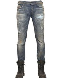 Diesel 17cm Thepphar Cotton Denim Jeans - Lyst
