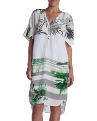 Tibi Printed Mesh Dress - Lyst