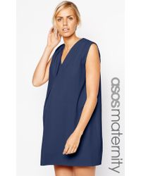 Asos Maternity Crepe Dress With Origami Detail - Lyst
