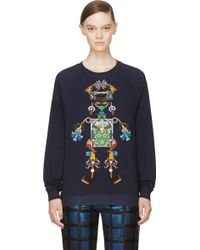 Mary Katrantzou Navy Tikki Man Sweatshirt - Lyst