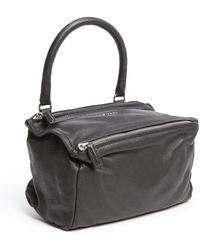 Givenchy Black Washed Leather Pandora Convertible Bag - Lyst