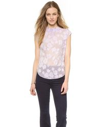 Rebecca Taylor Fil Coupe Top - Wild Orchid - Lyst