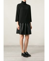 Cedric Charlier Black Polo Neck Top - Lyst