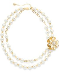 Tory Burch - Tilde Double-Strand Short Necklace - Lyst