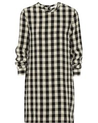 Equipment Owen Gingham Washedsilk Dress - Lyst