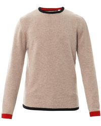 Chinti And Parker Contrasttrim Cashmere Sweater - Lyst