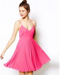 Asos Pleated Mini Dress - Lyst