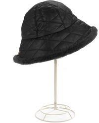 Ugg Quilted Hat with Fur Trim - Lyst