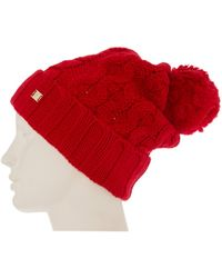 Temperley London - Chunky Cable Hat with Pom Pom - Lyst