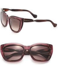 Balenciaga Twisted 55Mm Square Sunglasses brown - Lyst