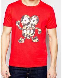 Evisu - T-shirt Chin Chin Geo Camo Print - Lyst