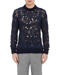 Orley - Crocheted-lace Sweater - Lyst