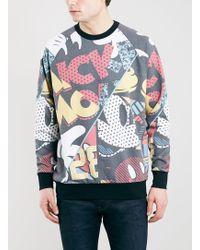 Topman Multi Oversized Fit Mickey Mouse Sweatshirt - Lyst