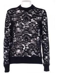 Givenchy Shirt Lace Cotton Black black - Lyst