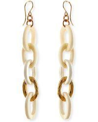 Ashley Pittman Mini Mara Light Horn Drop Earrings - Lyst