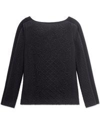 Tory Burch Black Kiersten Pullover - Lyst