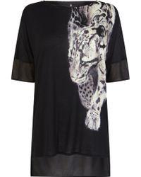 Karen Millen Animal Printed T-shirt - Lyst