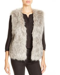 Jack BB Dakota - Faux Fur Vest - Lyst