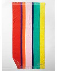 Gap Sunnylife® Vertical-Stripe Beach Towel red - Lyst