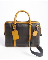 Burberry Brown Check Newburg Convertible Briefcase - Lyst