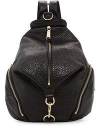 Rebecca Minkoff Julian Zipper-trim Leather Backpack - Lyst