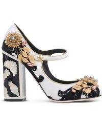 Dolce & Gabbana | Embellished Mary Jane Pumps | Lyst