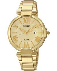 Seiko Women'S Solar Gold-Tone Stainless Steel Bracelet Watch 33Mm Sut176 - Lyst