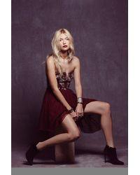 Free People Floral Bodice Mini Dress - Lyst