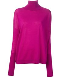 Acne Studios Delight Merino Polo Neck Sweater - Lyst