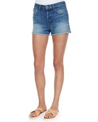 J Brand Gracie Denim Shorts blue - Lyst