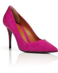 Fendi Suede Pointed Toe Pumps in Fuchsia - Lyst