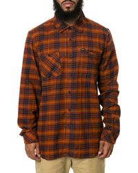 RVCA The Bazz Plaid Button Down - Lyst