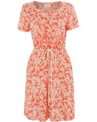 Linea Weekend Floral Print Woven Drawstring Dress - Lyst