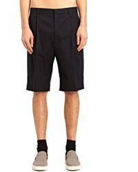Lanvin New Season - Mens Loose Gabardine Shorts - Lyst