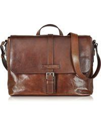 The Bridge - Marcopolo Viaggio Marrone Leather Messenger Bag - Lyst