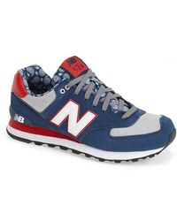 New Balance | blue '574 - Paisley Pack' Sneaker, Blue | Lyst