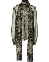 J. Mendel Baroque Embroidered Long Sleeve Blouse - Lyst